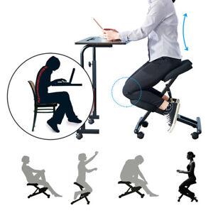 Kneeling Posture Chair Orthopaedic Stool Ergonomic Frame Seat Home Office Black