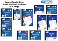INVOICE BOOK/RECEIPT/DUPLICATE BOOK 1-100,80,40,PAGES PAD NCR/CARBON FULL RANGE