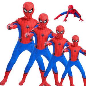 Spiderman Kostüm Kinder Erwachsene Cosplay Karneval Xmas Overall Spielanzug DE