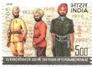 INDIA 2005 300 years Patiala 15 Punjab Military Sikhism stamp 1v MNH