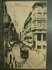 cpa italie italia milan milano corso vittorio emanuele tramway tram