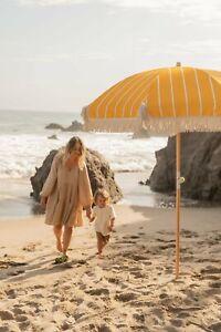 Yellow Amber Beach Umbrella