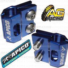 Apico Blue Brake Hose Brake Line Clamp For Yamaha YZ 125 2010 10 Motocross