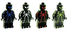 Custom Designed Minifigures - Set Spider man (Stealth Suit) Printed On LEGO Part