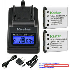 Kastar Battery LCD Fast Charger for NP-45A NP-45B NP-45S Fujifilm FinePix JV200