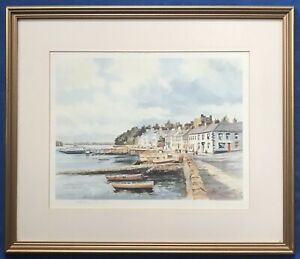 Original Irish Art Ltd Ed Print Of Portaferry Harbour Signed By Colin Gibson