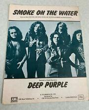 More details for deep purple - smoke on the water - original sheet music - rare.