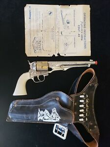 COLT 45 Cap Gun with Holster and Bullets HUBLEY Includes Original Box Directions