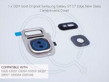 Oro original OEM Samsung Galaxy S7 S7 Cubierta de Lente de cámara de vidrio de repuesto EDGE