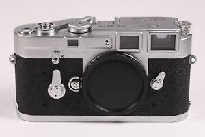 "* Exc + + * Leica m3 SS 35mm Rangefinder Film Camera Silver Chrome Original ""L"" seal"