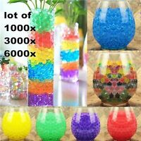6000Pcs Colorful Water Plant Flower Jelly Crystal Soil Mud Hydro Gel Beads Balls