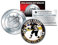 2005-06 SIDNEY CROSBY Royal Canadian Mint Medallion NHL FIRST GOAL Rookie Coin