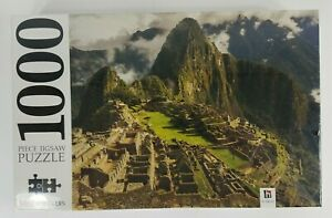 "NIP Mindbogglers Machu Picchu 1000 piece 29""x23"" jigsaw puzzle Sealed Hinkler"