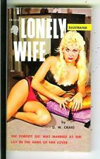 LONELY WIFE by Craig, US Chariot Book #1612 sleaze gga pulp vintage pb