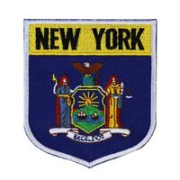 State Flag Shield New York Patch Badge Travel USA Embroidered Iron On Applique