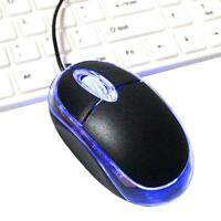 USB 2.0 Optical Wired Scroll Wheel Mouse Mice For Laptop PC Notebook Desktop New