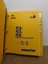 KOMATSU PC10-7 PV15-3 PC20-7 EXCAVATOR  SHOP MANUAL Genuine Hard Copy Original