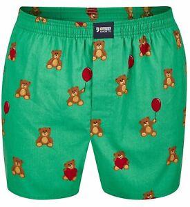 Happy Shorts Herren american Boxer Boxershorts Shorts Webboxer Teddy Bär Baer