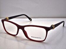 Authentic Tiffany & Co. TF 2104 8152 Black Wine Eyeglasses Frame DEMO MODEL $345