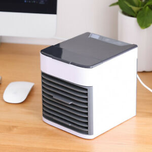 LED Portable Air Conditioner Mini Cooler Cooling Fan Humidifier Evaporative USB