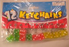 wholesale lot - 24 Lucky Dice Key Chains wholesale $.49 each Ships Free NEW!