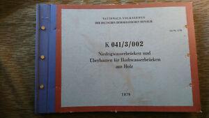 NVA  DV K 041/3/002 NIEDRIGWASSERBRÜCKEN UND ÜBERBAUTEN HOCHWASSERBRÜCKEN HOLZ