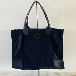 TORY BURCH Ella Solid Blue Packable Nylon Tote