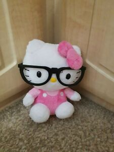 Ty Beanie Baby Hello Kitty Plush - kitty with black Glasses
