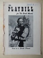 March 1957 - Booth Theatre Playbill - Visit To A Small Planet - Ritchard
