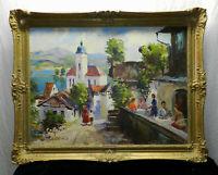 "German Mountain Village"" by Heinz Klaiberg (1917-1995) , Oil on canvas signed"