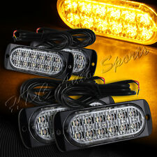 48 LED Amber Car Truck Emergency Beacon Warn Hazard Flash Strobe Light Universal