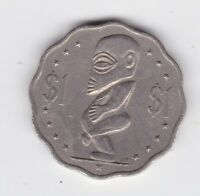 1987 Cook Islands $1 Coin Scalloped (with 12 notches) Tangaroa Q-593