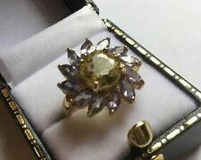 Tanzanite Cluster Birthday Round Fine Gemstone Rings