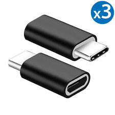 3 Pack USB 3.1 Type C Male to Micro USB Female Adapter Converter Connector USB-C