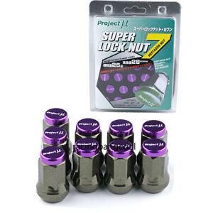 M12x1.5 Project MU Purple Composite SPEC Steel Wheel Nuts Wheel Rims Lug Nuts