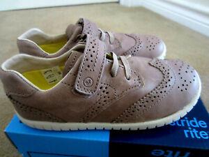 Stride Rite Boys' SRT Adisson  Brown Leather Valcro Shoes BB57747 Size 10 NIB