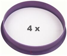 4 x Zentrierring 74.1mm auf 72.6 mm lila / purple
