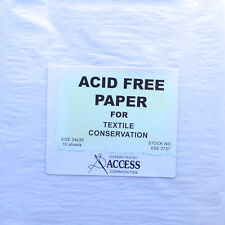 Acid Free paper for textile and fiber conservation storage