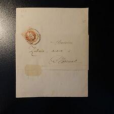 FRANCE NAPOLÉON N°26 SEUL SUR BANDE DE LETTRE JOURNAL COVER CAD PLOERMEL