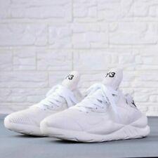 NEW Y3 Yohji Yamamoto Qasa High Leather Sneakers Men's Classic White Trainers