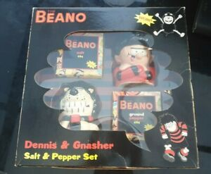 Beano Dennis and Gnasher salt and pepper set 2011 boxed