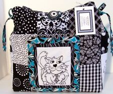 SOPHISTIKITTY CATS 100% Cotton Prewashed Multi-Color Handmade Tote Bag (F)