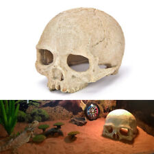 Aquarium Resin Skull Head Cave Ornament Fish Tank Underwater Decoration Decor Zk