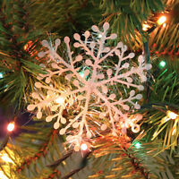 30pcs Christmas Holiday White Snowflake Charms Festival Party Decor Ornament