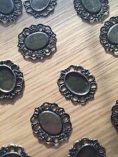 15 Conectores Envolturas De Bronce Antiguo Adornos 30x26mm (Fit 18x12.5mm)