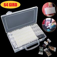 64 Slots Embroidery Diamond Painting Storage Box Case Nail Art Holder Case DIY