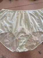 Vintage Panties High Waist white Nylon plus Sissy 12 Shiny Sears granny sheer