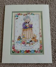 "Mary Engelbreit 8x10 Matted Print- ""When A Child Is Born, So Is A Grandmother"""