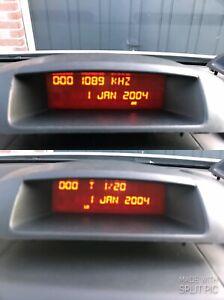 Peugeot Partner Citroen Berlingo B9 Mitte Armaturenbrett RD4 Uhr Display Screen