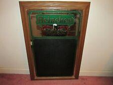 Heineken Beer Sign Mirror Chalkboard Vintage (Rare, Nice)